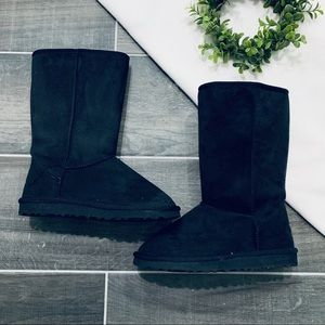 Classic ugg black suede tall boots